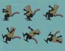Dragon dinosaur illustration vector art slip fall funny