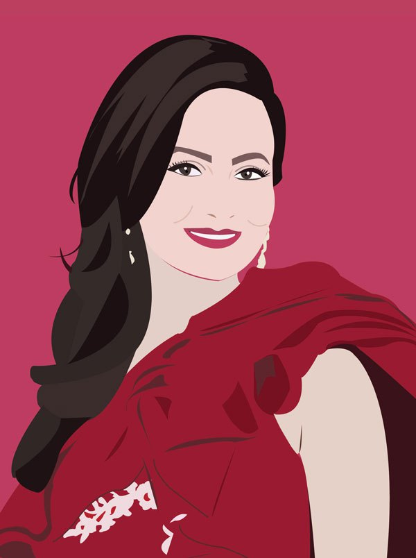 glamorous woman illustration beautiful digital portrait