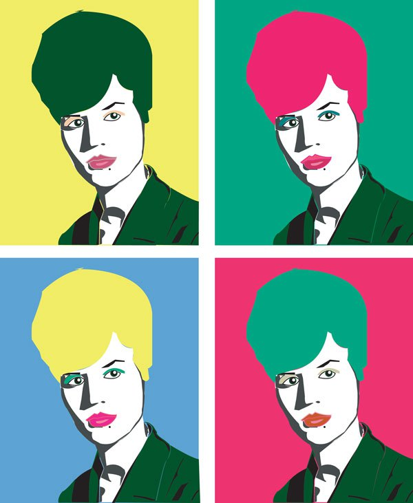 woman Warhol portrait illustration art